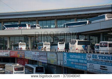 Ankara / Turkey 22 January 2020 View Of Asti Bus Terminal In Ankara City In Summer Overcast Day. Ank