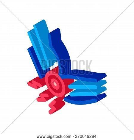 Arthritis Of Elbow Icon Vector. Isometric Arthritis Of Elbow Sign. Color Isolated Symbol Illustratio