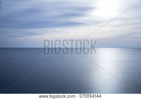 Lake Gardasee In Italy, Europe, Long Time Exposure, Can Be Used As Background
