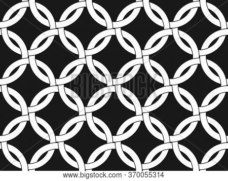 Abstract Seamless Pattern Of Intertwined Circles For Wide Application In The Decoration And Decorati