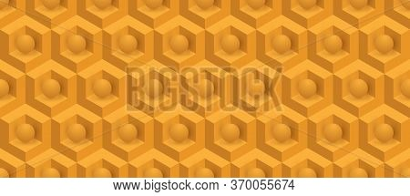 Abstract Seamless Three-dimensional Pattern Of Cubes And Balls For Wide Application In The Decoratio
