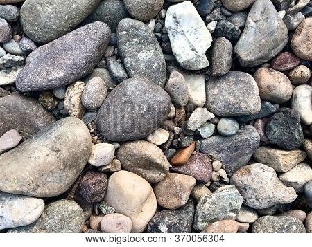 Small Stones Background, Little Rocks, Small Stones In Many Shades Of Grey, Texture Of Little Rocks