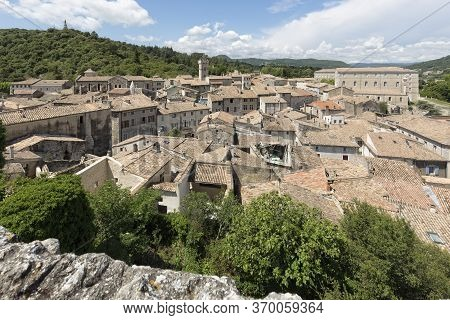 Overlooking The Small Town Of Viviers, Ardeche, France