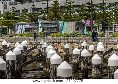Melbourne, Australia - 18th February 2020: A German Photographer Visiting The Docklands, Taking Pict