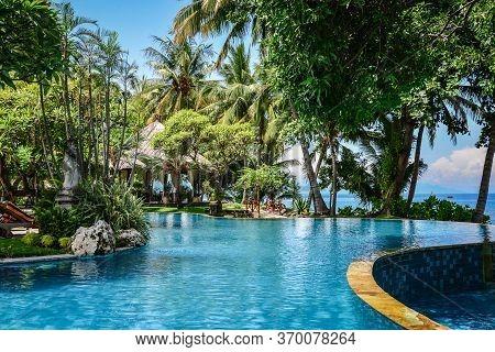 Bali, Indonesia - January 5, 2018: Luxury Hotel