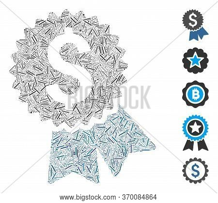 Hatch Mosaic Based On Featured Price Tag Icon. Mosaic Vector Featured Price Tag Is Created With Scat
