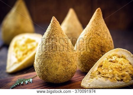 National Day Of Coxinha, Snacks Of Traditional Brazilian Cuisine Stuffed With Shredded Chicken.