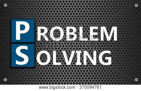 Problem Solving Concept On Mesh Hexagon Background, 3d Rendering