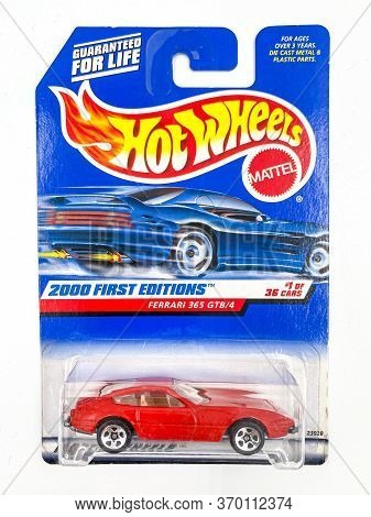 Bangkok Thailand - June 07, 2020 : Pack Of Hot Wheels Die Cast Carded Car Model For Hot Wheels Serie