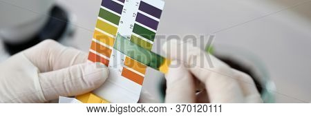 Litmus Paper Shows Acidity, Chemical Analysis. Indicator For Determining Reaction Medium. Strips And