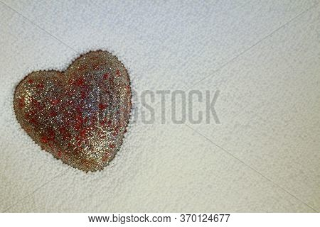 Beautiful Shiny Heart On A White Background