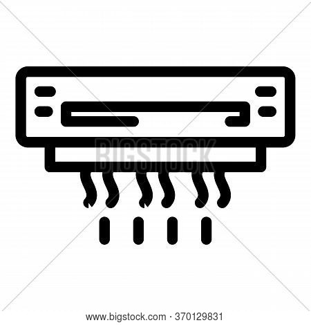 Wall Air Conditioner Bottom Icon. Outline Wall Air Conditioner Bottom Vector Icon For Web Design Iso