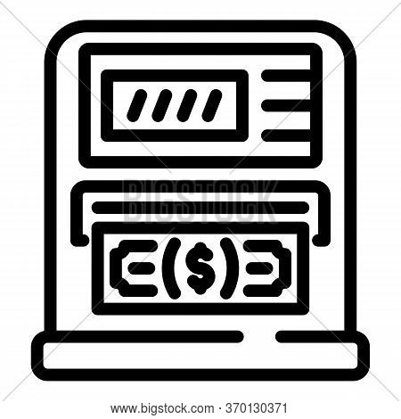 Atm Icon. Outline Atm Vector Icon For Web Design Isolated On White Background