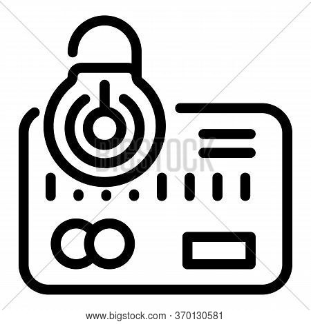 Unlock Credit Card Icon. Outline Unlock Credit Card Vector Icon For Web Design Isolated On White Bac