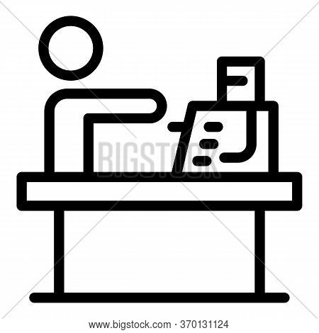 Account Cashier Bank Icon. Outline Account Cashier Bank Vector Icon For Web Design Isolated On White