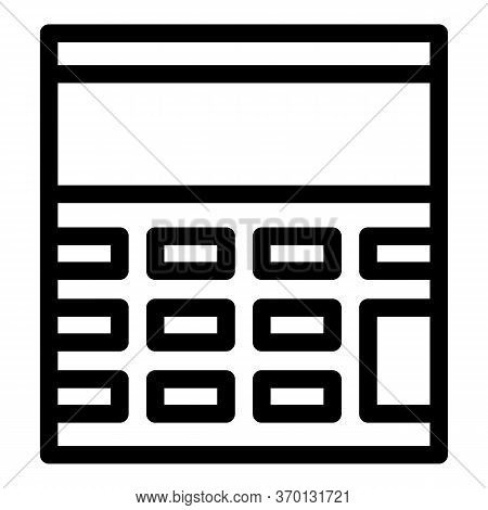 Calculating Device Icon. Outline Calculating Device Vector Icon For Web Design Isolated On White Bac
