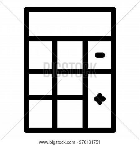 Algebra Calculator Icon. Outline Algebra Calculator Vector Icon For Web Design Isolated On White Bac