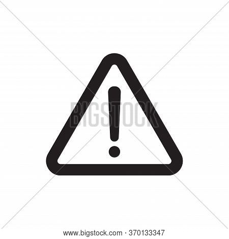 Caution Exclamation Icon Isolated On White Background. Caution Exclamation Icon In Trendy Design Sty