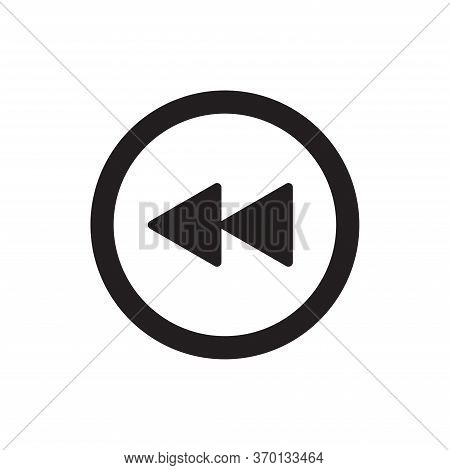 Rewind Icon Isolated On White Background. Rewind Icon In Trendy Design Style For Web Site And Mobile