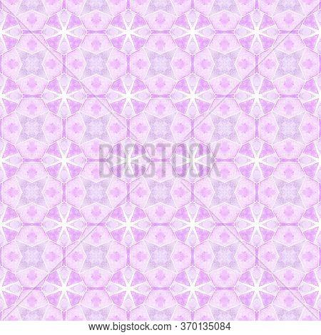 Green Geometric Chevron Watercolor Border. Purple Lovely Boho Chic Summer Design. Chevron Watercolor