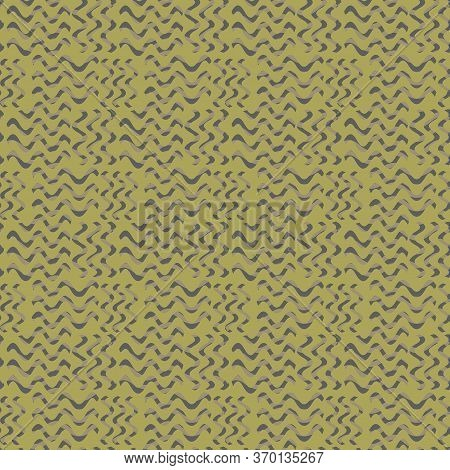 Seamless Pattern In Green Abstract Spots. Simple Background For Textile, Pattern Fills, Covers, Surf