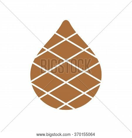 Simple Snake Fruit Illustration, Tropical Fruit Icon, Brown Zalacca Symbol - Vector