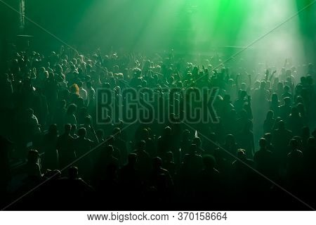 Crowd, People In Front Of The Stage
