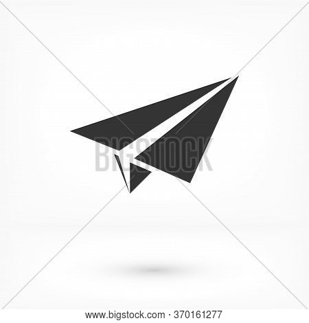 Paper Plane Send Message Vector Icon On A White Background. Paper Airplane Flat Icon For Web, Mobile