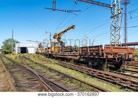 Old Rusty Railway Depot In Poti, Georgia