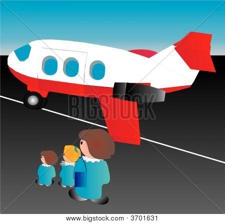 Awaiting The First Plane Trip
