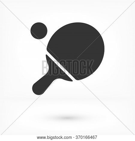 Ping Pong Icon In Trendy Flat Style Isolated On White Background. Sport Icon For Your Web Design, Lo