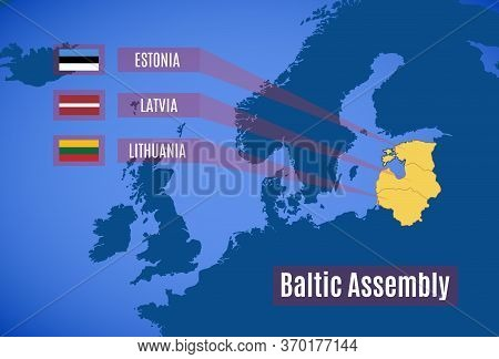 Vector Map Of The Baltic Assembly (ba).