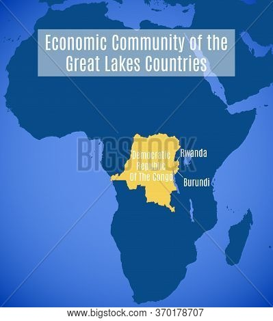 Map Of The Economic Community Of The Great Lakes Countries (ecglc).