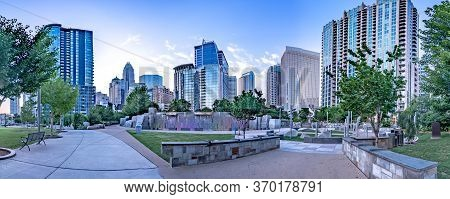 Charlotte North Carolina Uptown During Early Morning