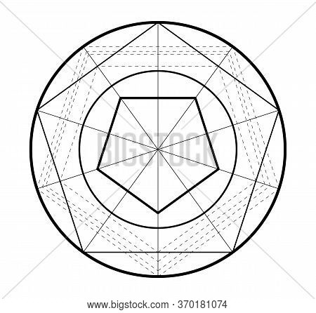 Minimalistic Style Design. Golden Ratio. Geometric Shapes. Logo. Vector Icon. Abstract Vector Backgr