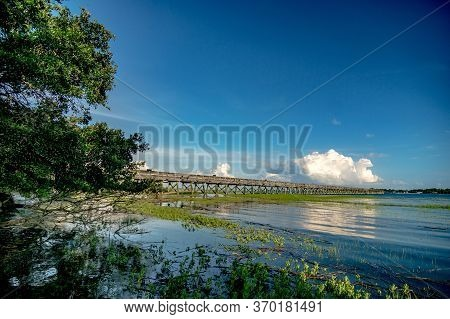 South Carolina Beach Scenes At Hunting Island