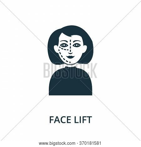 Face Lift Icon From Plastic Surgery Collection. Simple Line Element Face Lift Symbol For Templates,