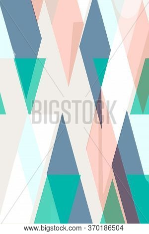 Flat Geometric Covers Design. Colorful Modernism. Simple Shapes Composition.