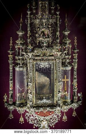 Munich, Germany - November 27, 2018 : The Collection Of Holy Relics In The Museum Residence (munich