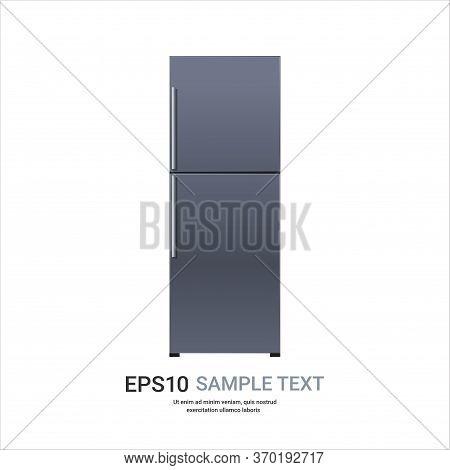 Stainless Steel Refrigerator Double Door Fridge Freezer Modern Kitchen Household Home Appliance Conc