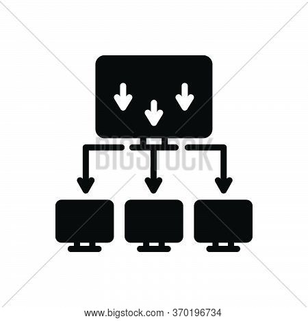 Black Solid Icon For Importer Cargo Export Shipping