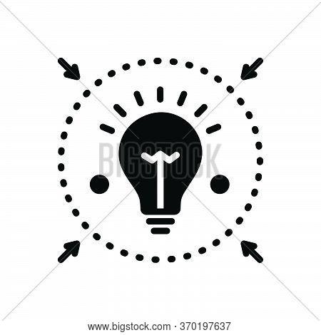 Black Solid Icon For Denote  Enlighten  Inform  Intimate  Notify