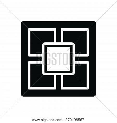 Black Solid Icon For Fractal  Fractional Fragmental Partial