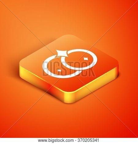 Isometric Washing Dishes Icon Isolated On Orange Background. Cleaning Dishes Icon. Dishwasher Sign.