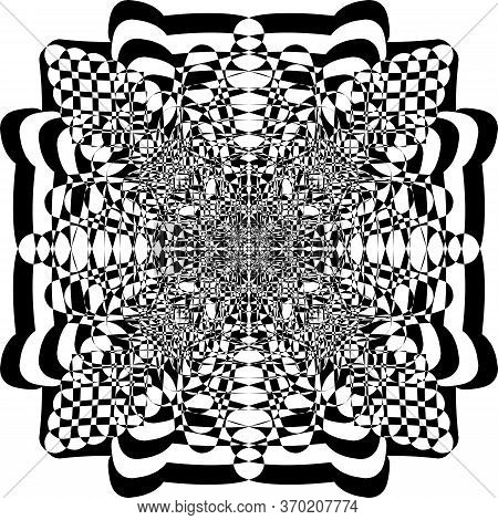 Abstract Arabesque Courved Shapes Game Perspective Negative Space Design Black On Transparent Backgr