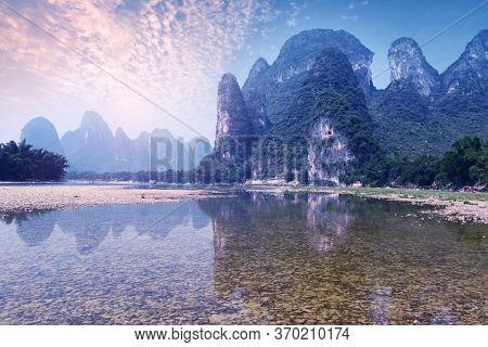 Beautiful natural scenery in Guilin