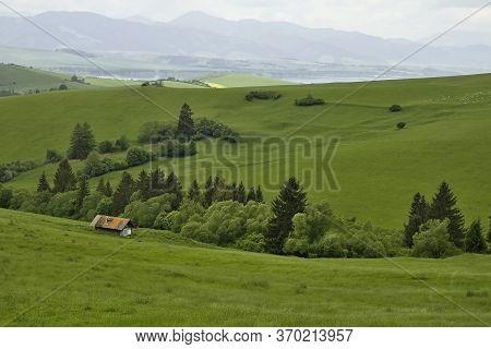 Farm Building For Sheep Breeding In The Beautiful Surroundings Of The Liptovska Mara Dam.