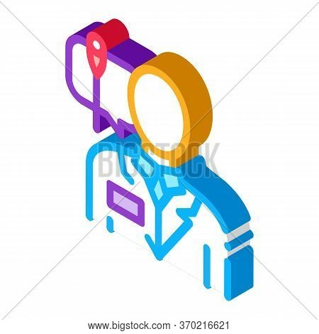 Doctor Acupuncture Specialist Icon Vector. Isometric Doctor Acupuncture Specialist Sign. Color Isola