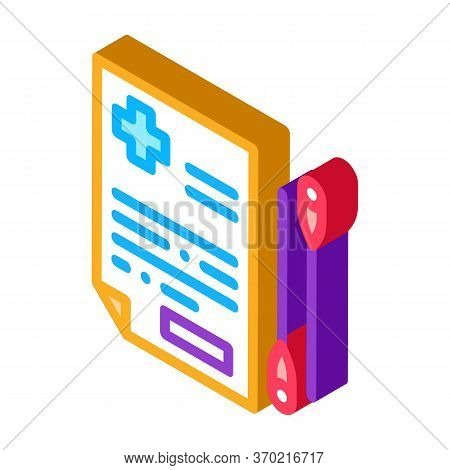 Acupuncture Medical Referral Icon Vector. Isometric Acupuncture Medical Referral Sign. Color Isolate