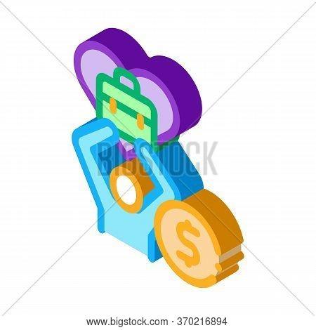 Favorite Money Job Icon Vector. Isometric Favorite Money Job Sign. Color Isolated Symbol Illustratio